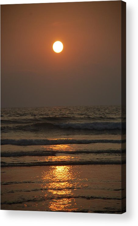 Sunset Acrylic Print featuring the photograph Sunset In Goa-2 by Reshmi Shankar