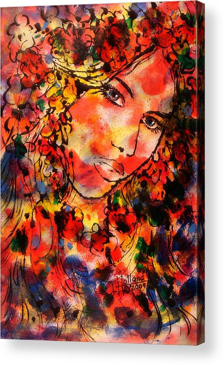 Impressionism Acrylic Print featuring the painting Sweetheart by Leonard Holland