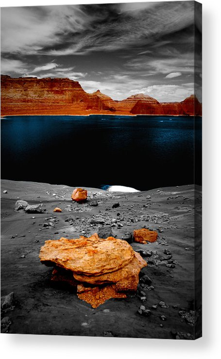 Photography Acrylic Print featuring the photograph Tabletop Boulder Lake Powell by Tom Fant