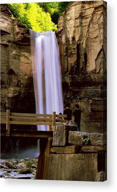 Waterfall Acrylic Print featuring the photograph Taughannock Falls by Roger Soule