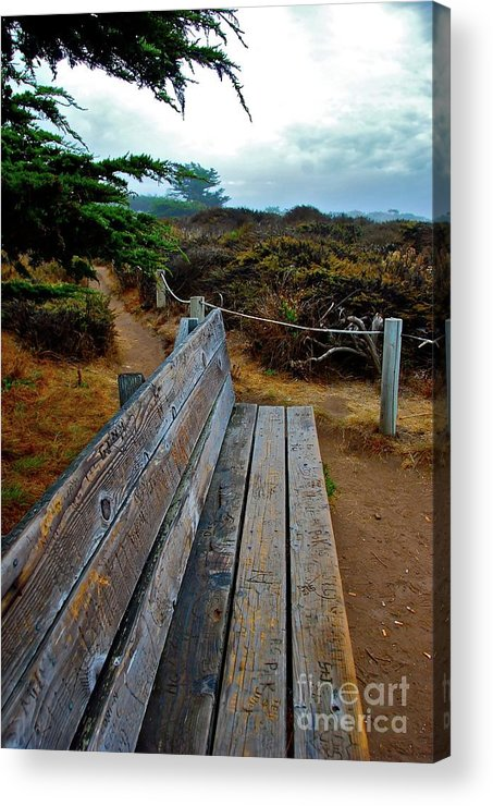 Bench Acrylic Print featuring the photograph The Bench by Lori Leigh