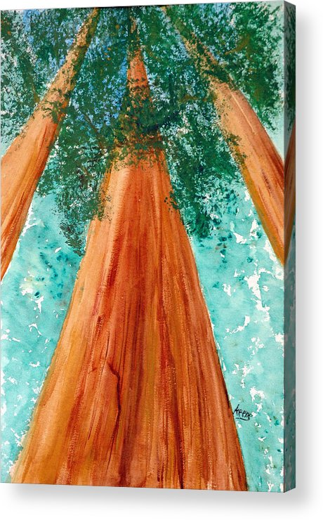 Acrylic Print featuring the painting The Grove At White Sulphur Springs by David Keene