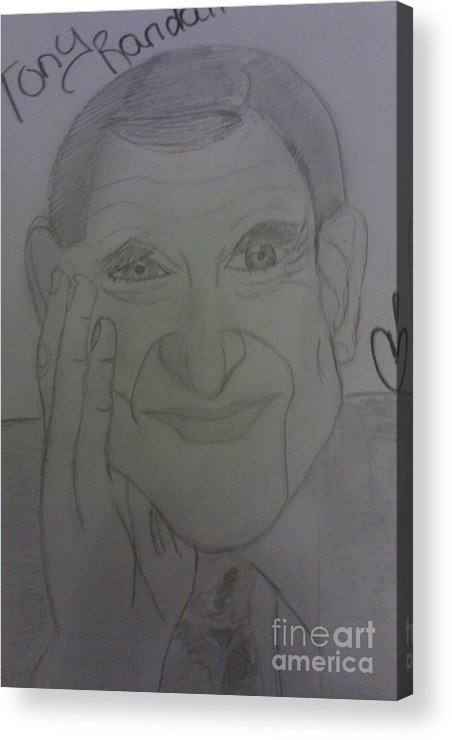 Famous People Acrylic Print featuring the drawing The Late Actor Tony Randall by Charita Padilla