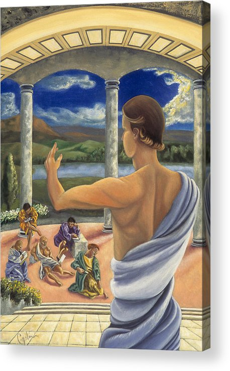 Landscape Acrylic Print featuring the painting The Lesson by Gloria Cigolini-DePietro