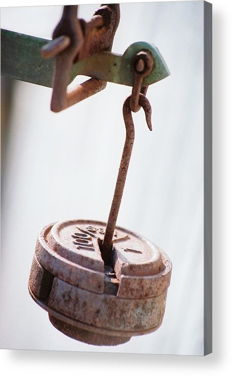 Rust Acrylic Print featuring the photograph The Weight by Jennifer Trone
