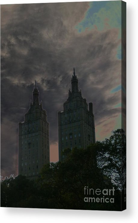 Travel Acrylic Print featuring the photograph Two Towers by Anna Duyunova