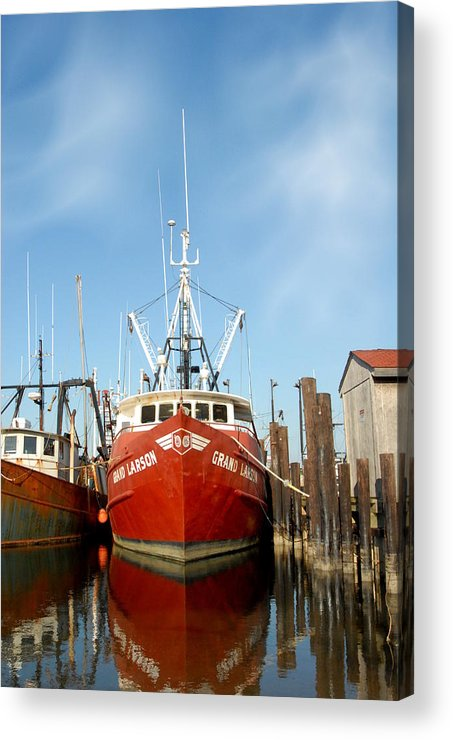Commercial Fishing Boats Acrylic Print featuring the photograph Vessel 57 by Joyce StJames