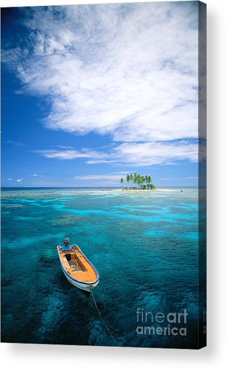 Blue Acrylic Print featuring the photograph View Of Micronesia by Rick Gaffney - Printscapes