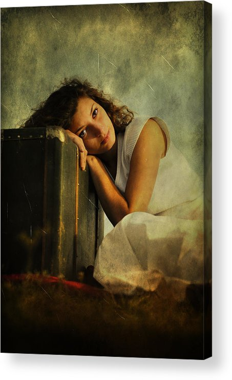Girl Acrylic Print featuring the photograph Wait by Endre Fulop