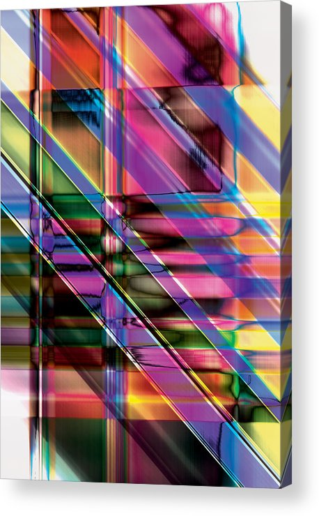 Abstract Acrylic Print featuring the digital art Water Color Window by Gae Helton