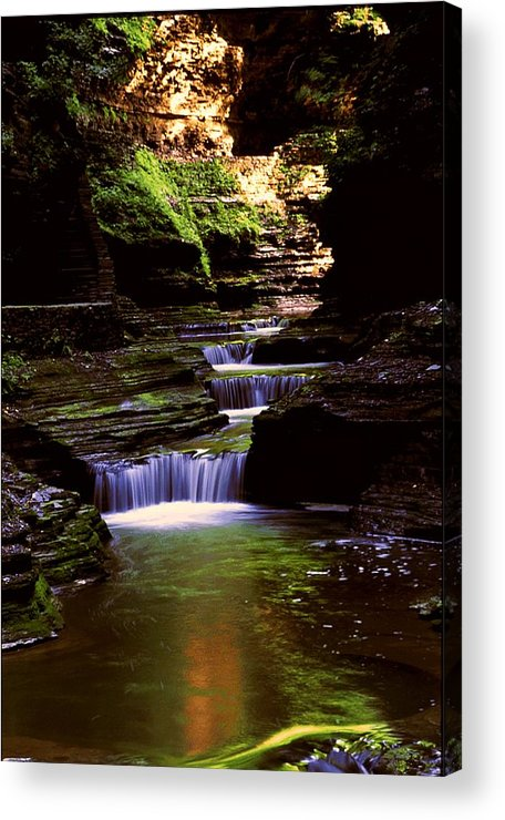 Gorge Acrylic Print featuring the photograph Watkins Glen Gorge In Summer by Roger Soule