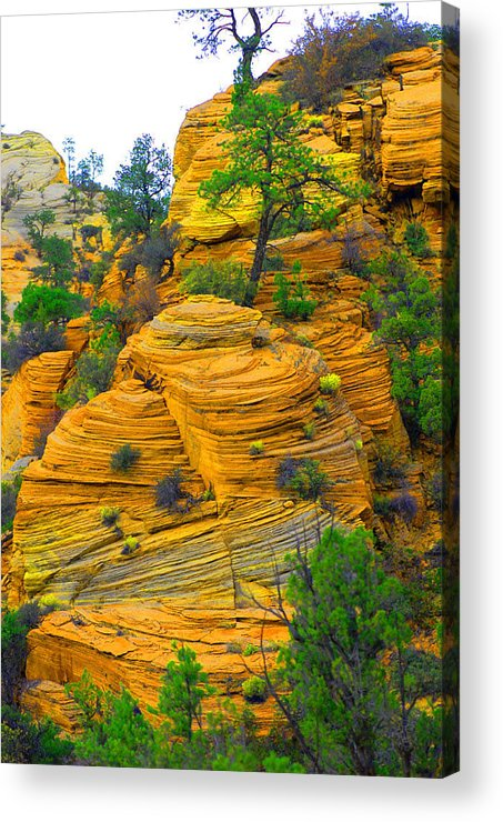 Utah Acrylic Print featuring the photograph Weathered Rock by Dennis Hammer