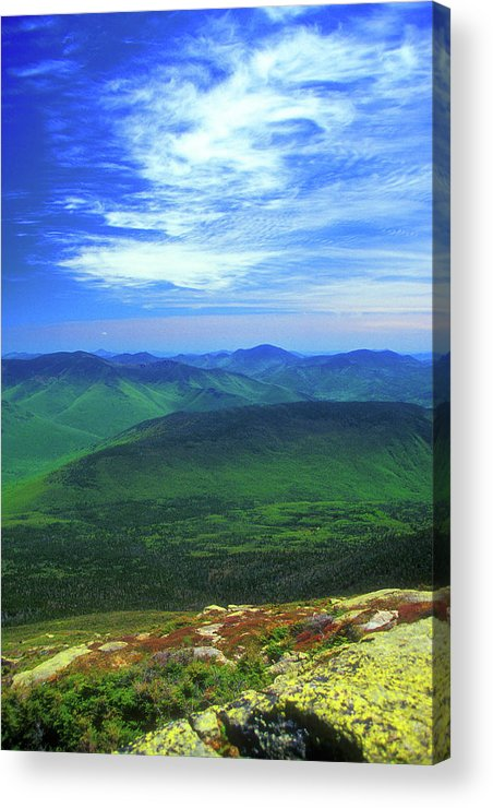 New Hampshire Acrylic Print featuring the photograph White Mountain Leafout From Franconia Ridge by John Burk