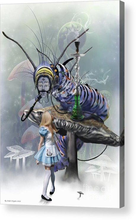 Alice Acrylic Print featuring the digital art Who Are You by Crispin Delgado