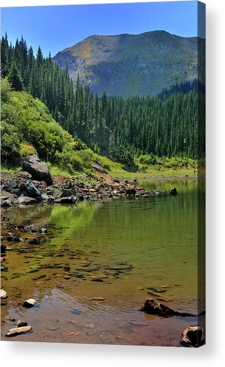 Mountain Acrylic Print featuring the photograph Williams Lake by Ron Cline
