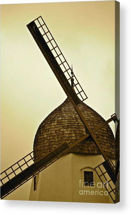 Windmill Acrylic Print featuring the photograph Windmills Of Your Mind by Lori Leigh