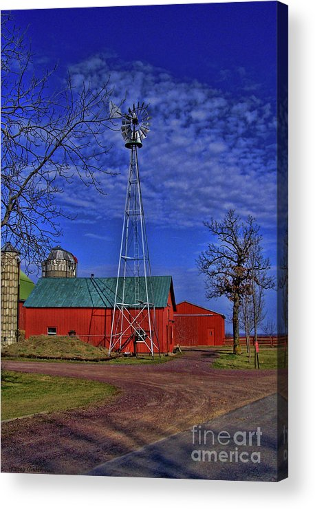 Amish Acrylic Print featuring the photograph Wisconsin Amish Farm by Tommy Anderson