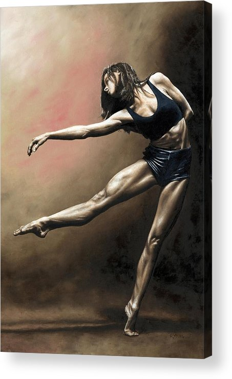Dancer Acrylic Print featuring the painting With Strength And Grace by Richard Young