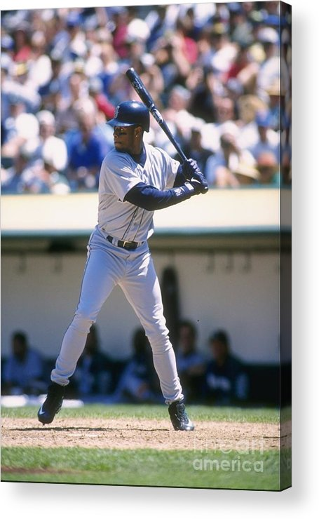 People Acrylic Print featuring the photograph Ken Griffey Jr. Mariners by Otto Greule Jr