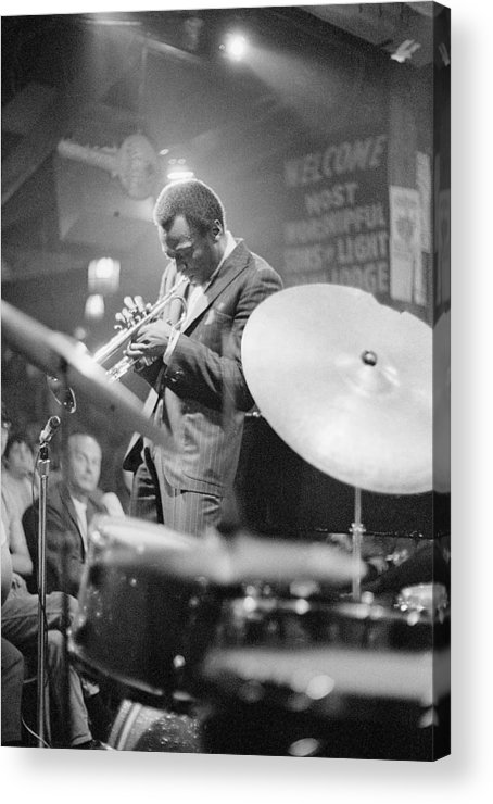 Concert Acrylic Print featuring the photograph Miles Davis Performing In Nightclub by Bettmann