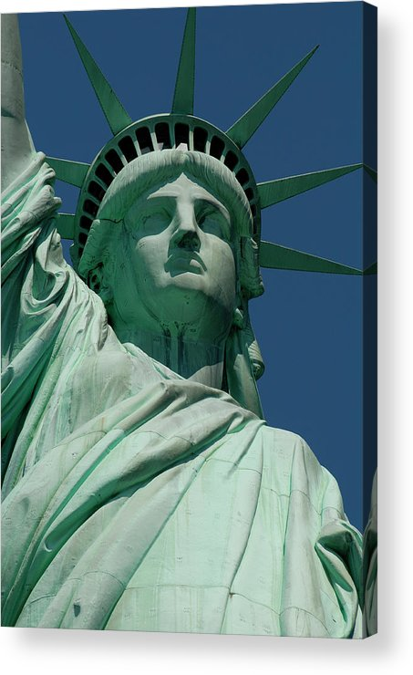 Outdoors Acrylic Print featuring the photograph Statue Of Liberty, Nyc by Manrico Mirabelli