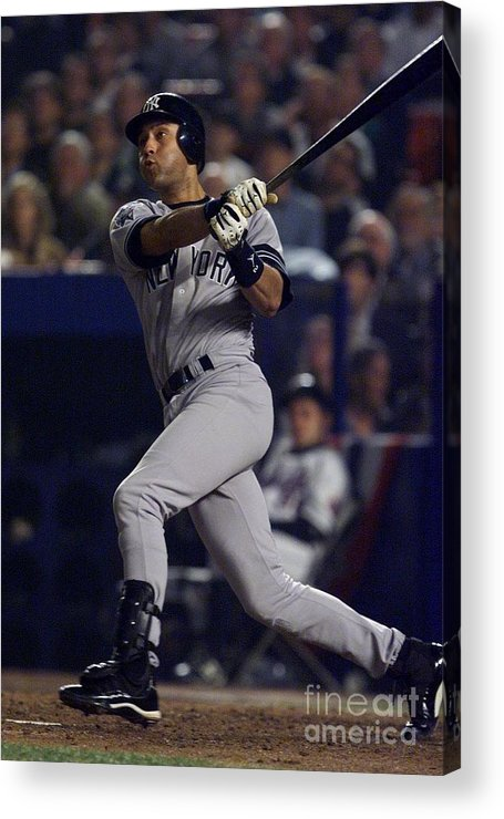 People Acrylic Print featuring the photograph Derek Jeter by Jed Jacobsohn