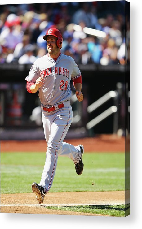 American League Baseball Acrylic Print featuring the photograph Chris Heisey by Al Bello