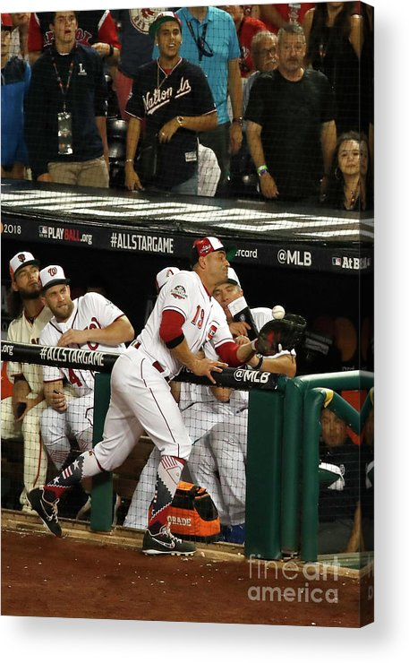 People Acrylic Print featuring the photograph Joey Votto by Patrick Mcdermott