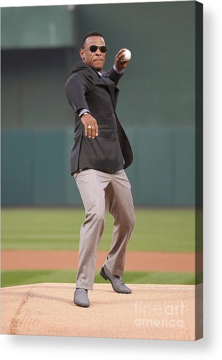People Acrylic Print featuring the photograph Rickey Henderson by Thearon W. Henderson
