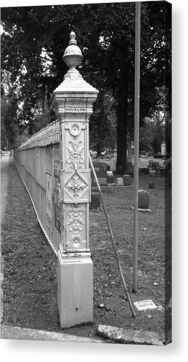 Ornate Metalwork Acrylic Print featuring the photograph Antique Ornate Post by Paula Talbert