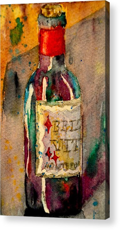 Wine Acrylic Print featuring the painting Bella Vita by Beverley Harper Tinsley