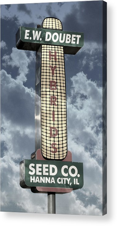 Abstract Acrylic Print featuring the photograph Doubet Seed Company 1.4 by Stephen Stookey