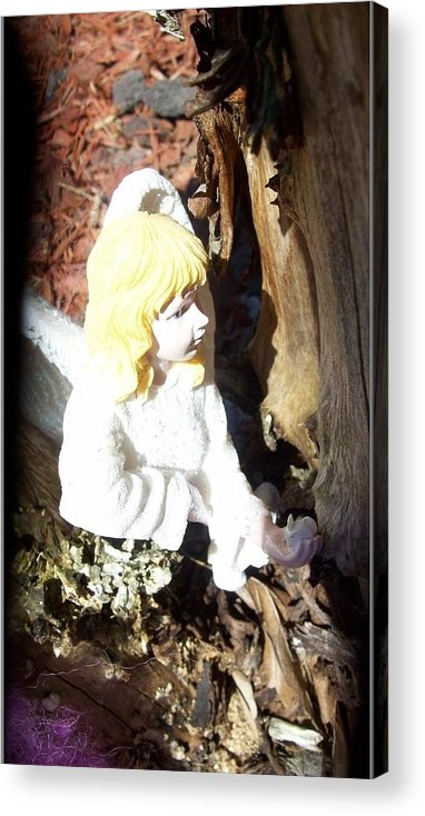 Fairy Acrylic Print featuring the photograph Fairy Captured by Sharon Ackley