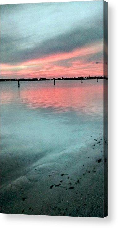Florida Sunset Acrylic Print featuring the photograph Florida Sunset by Zech Browning
