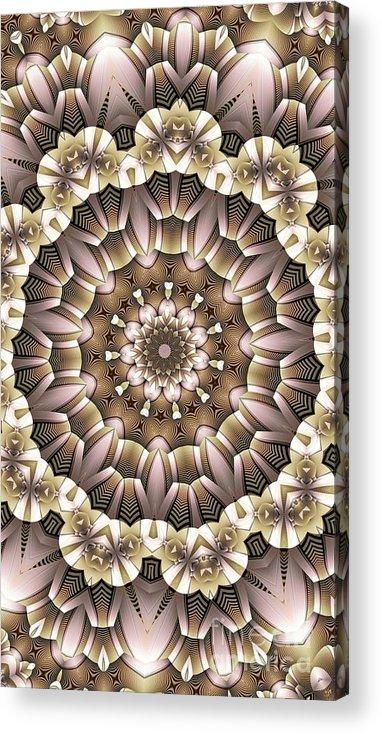 Kaleidoscope Acrylic Print featuring the digital art Kaleidoscope 65 by Ron Bissett