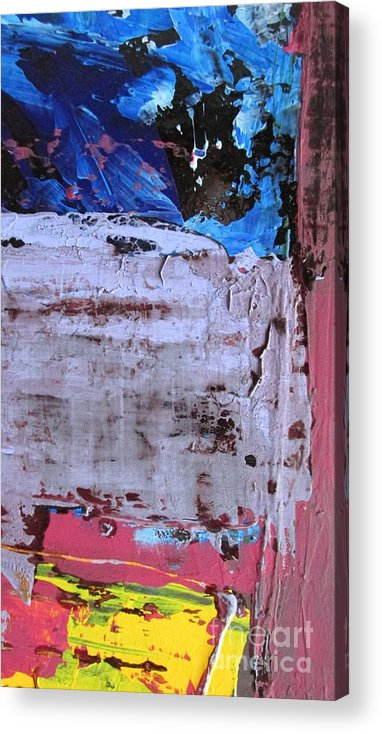 Abstract Marrakesh Acrylic Print featuring the painting Marrakesh Moonlight by Omar Hafidi