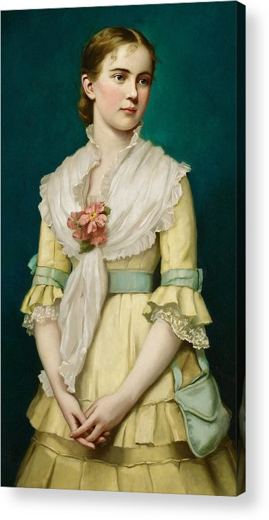 Portrait Acrylic Print featuring the painting Portrait Of A Young Girl by George Chickering Munzig