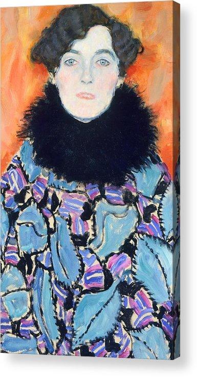 Art Acrylic Print featuring the painting Portrait Of Johanna Staude by Gustav Klimt
