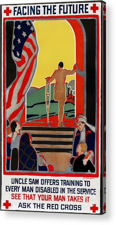 1919 Acrylic Print featuring the photograph Red Cross Poster, 1919 by Granger