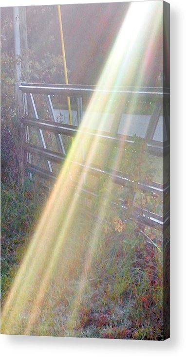 Sunlight Acrylic Print featuring the photograph Sunbeams Over Gate by Nadia Korths