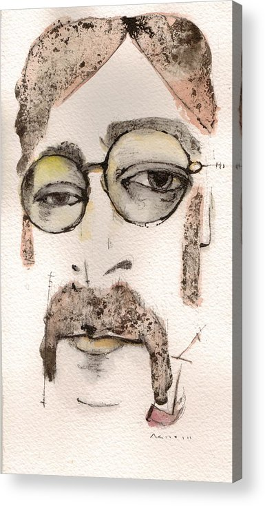 The Beatles Acrylic Print featuring the painting The Walrus As John Lennon by Mark M Mellon