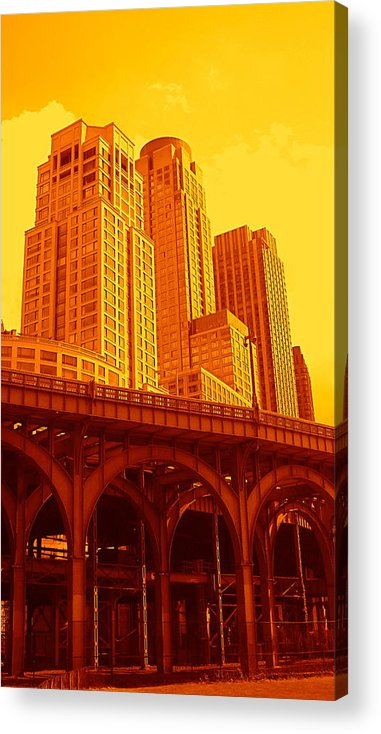 Manhattan Prints And Posters Acrylic Print featuring the photograph Upper West Side And Hudson River Manhattan by Monique's Fine Art