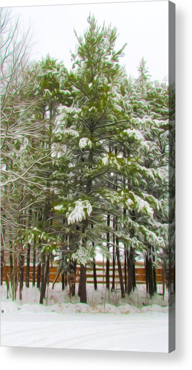Background Acrylic Print featuring the painting Winter Landscapes by Jeelan Clark