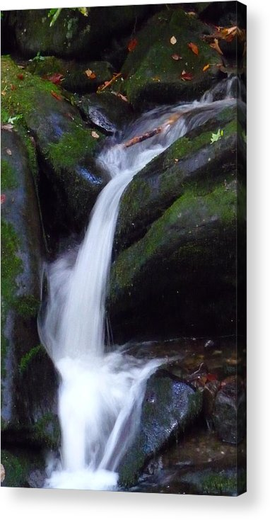 Waterfall Acrylic Print featuring the photograph Cascading Angel Hair by Michael Carrothers
