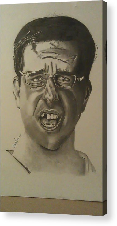 Portrait Acrylic Print featuring the drawing Stu by Shawn Brooks