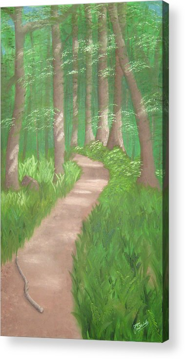 Forrest Acrylic Print featuring the painting The Path by Jaqui Michells