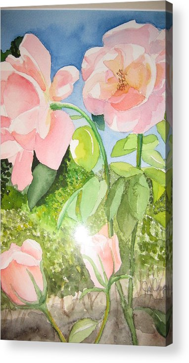 Flowers Acrylic Print featuring the painting Pink Dream by Mabel Moyano