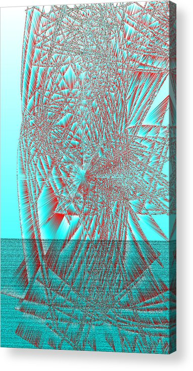 Rithmart Abstract Lines Organic Random Computer Digital Shapes Acanvas Art Background Colors Designed Digital Display Images One Random Series Shapes Smooth Spiky Streaming Three Using Acrylic Print featuring the digital art Ac-7-32-#rithmart by Gareth Lewis