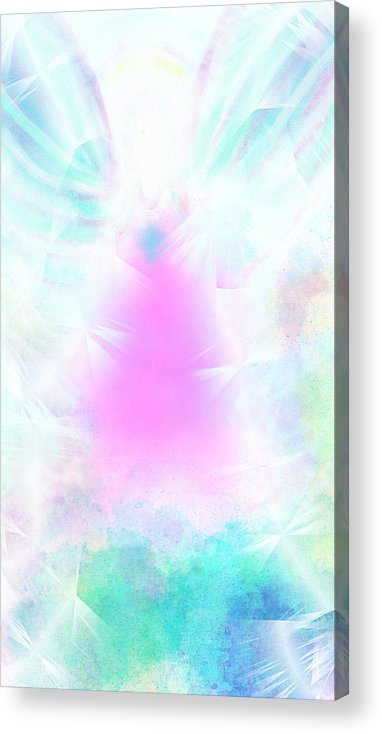Angel Acrylic Print featuring the digital art Angel Of Light by Rosana Ortiz