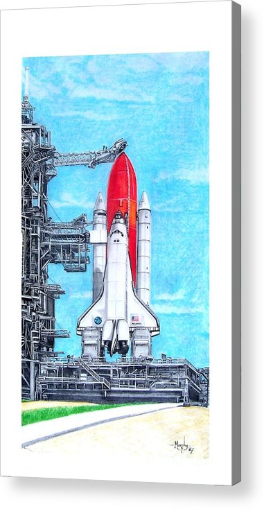 Drawing Acrylic Print featuring the drawing Atlantis by Murphy Elliott